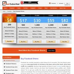 Buy Facebook Shares - RealSubscriber.com