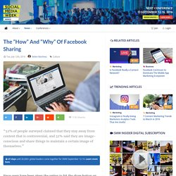 """The """"How"""" and """"Why"""" of Facebook Sharing - Social Media Week"""