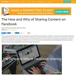 The How And Why Of Facebook Sharing