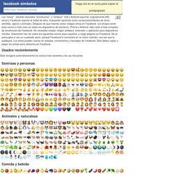 facebook símbolos: emoticones, caras, figuras, signos e iconos