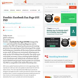 Freebie: Facebook Fan Page GUI PSD - Smashing Magazine