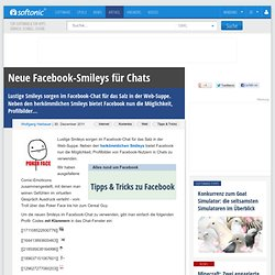 Neue Facebook-Smileys für Chats