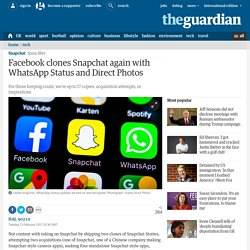 Facebook clones Snapchat again with WhatsApp Status and Direct Photos