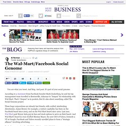 The Wal-Mart/Facebook Social Genome