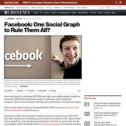 Facebook: One Social Graph to Rule Them All?