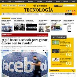 Facebook: ¿qué hace para ganar dinero con tu ayuda?