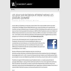 Facebook : les jeux sociaux intéressent moins les joueurs
