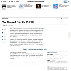 How Facebook Sold You Krill Oil