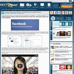 Facebook Sponsored Stories : la publicité dont vous êtes le héros