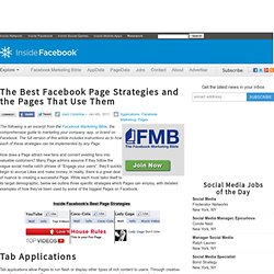 The Best Facebook Page Strategies and the Pages That Use Them