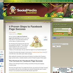 4 Proven Steps to Facebook Page Success