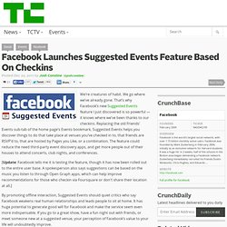 Facebook Launches Suggested Events Feature Based On Checkins