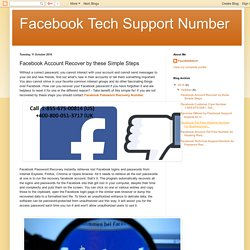 Facebook Tech Support Number: Facebook Account Recover by these Simple Steps