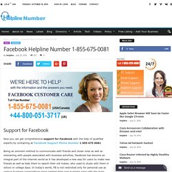 Facebook Support Phone Number 1-855-675-0081 to Contact Facebook