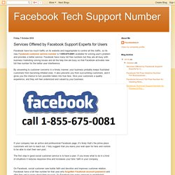 Facebook Tech Support Number: Services Offered by Facebook Support Experts for Users