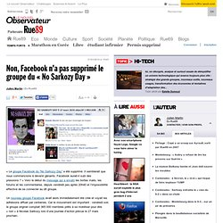 "Non, Facebook n'a pas supprim le groupe du ""No Sarkozy Day"" 