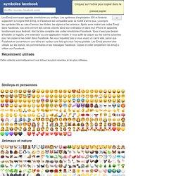 Facebook Symboles: symbole smiley, symbole emoji, émoticônes et listes de codes