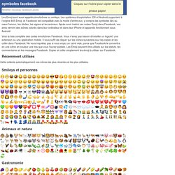 Smiley, Emoji, Emoticônes et listes de codes
