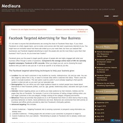 Facebook Targeted Advertising for Your Business