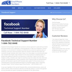 Facebook Technical Support Number 1-844-762-8448 USA/CANADA