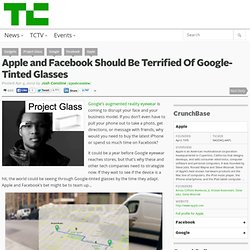 Apple and Facebook Should Be Terrified Of Google-Tinted Glasses