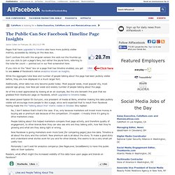 The Public Can See Facebook Timeline Page Insights