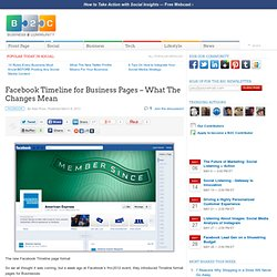Facebook Timeline for Business Pages – What The Changes Mean
