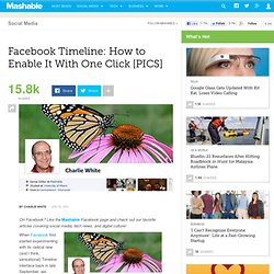 Facebook Timeline: How to Enable it With One Click