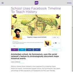 School Uses Facebook Timeline To Teach History