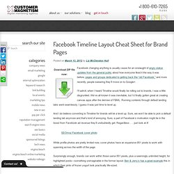 Facebook Timeline Template > Free Cheatsheet Download – Dimensions, Sizes, Tips