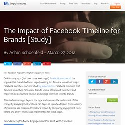 The Impact of Facebook Timeline for Brands [Study]