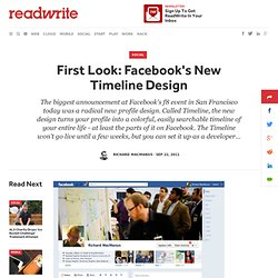 First Look: Facebook's New Timeline Design