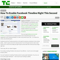 How To Enable Facebook Timeline Right This Second