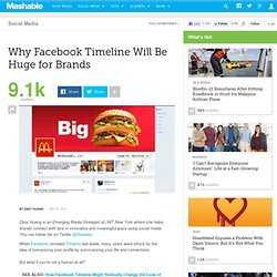 Why Facebook Timeline Will Be Huge for Brands