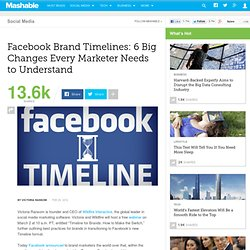 Facebook Brand Timelines: 6 Big Changes Every Marketer Needs to Understand