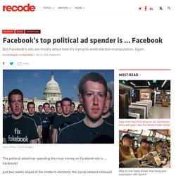 Facebook's top political ad spender is ... Facebook
