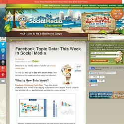 Facebook Topic Data: This Week in Social Media