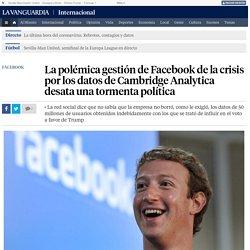 Facebook: La tormenta política a causa de los datos