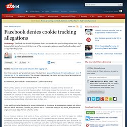 Facebook denies cookie tracking allegations