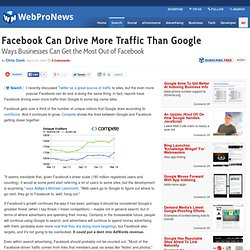 Facebook Can Drive More Traffic Than Google