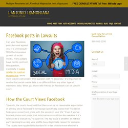 Can your Facebook posts be used against you in a lawsuit? - J Antonio Tramontana - Personal Injury Attorney