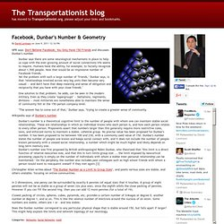 Facebook, Dunbar's Number & Geometry - The Transportationist