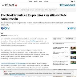 Facebook triunfa en los premios a los sitios web de socialización
