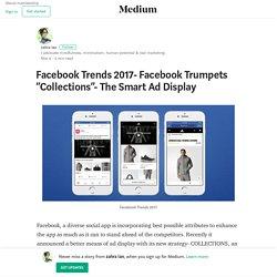 """Facebook Trends 2017- Facebook Trumpets """"Collections""""- The Smart Ad Display"""