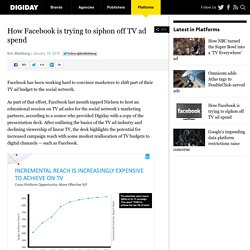 How Facebook is trying to siphon off TV ad spend
