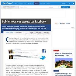 Publier tous vos tweets sur Facebook