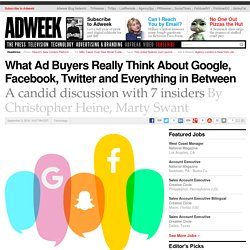 What Ad Buyers Really Think About Google, Facebook, Twitter and Everything in Between