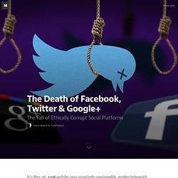 The Death of Facebook, Twitter & Google+