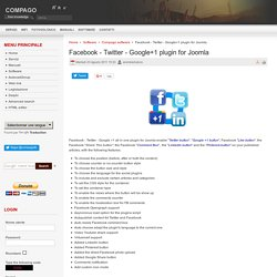 Facebook - Twitter - Google+1 plugin for Joomla