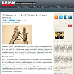 The Roles of Facebook and Twitter in Social Media Marketing | Br